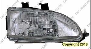 Head Light Passenger Side Honda Civic 1992-1995