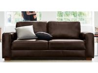 2 brown leather sofas from Next Home
