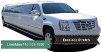 Stretch Limo Cadillac Escalade BRAND NEW, Wedding Limousin Deals