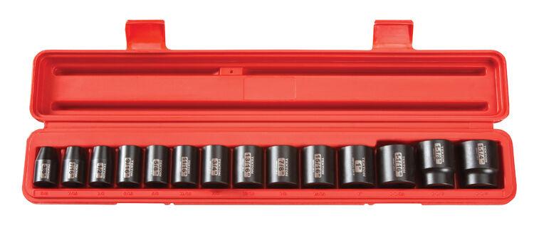 1/2 Drive 12-Point 3/8-1-1/4 Shallow Impact Socket Set