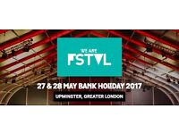 We Are FSTVL 2017 Tickets