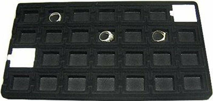 LOT OF 6  28 SLOT FLOCKED TRAY INSERT FOR PUFF CARDS
