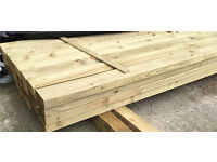 "🌲4""X 2""X 4.2M Easy Edge Tanalised Wooden Lengths/ Rails ~New~"
