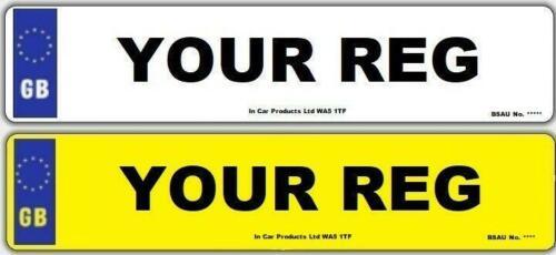 Car Parts - Pair Standard GB MOT UK Road Legal Car Reg Registration Number Plates