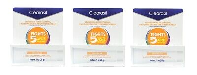 Clearasil Stubborn Acne Control 5in1 Concealing Treatment Cream, 1 Oz (3 Pack)