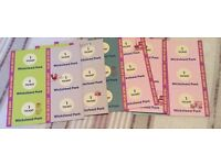 Wicksteed park tickets (36 ride tickets)