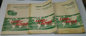 Lot of 3 1966 LAND ROVER Manual Catalog Supplements Series 2 2A