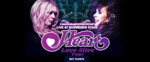 Heart Love Alive Tour Sunday July 14th 7:00pm Budweiser Stage