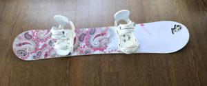 Women's Burton Snowboard (145cm) - with bindings