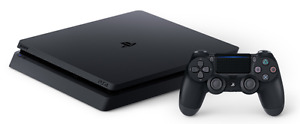ps4 slim with thieves end and one controller