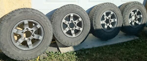 "15"" alloy Nissan Pathfinder / Frontier  factory rims + AT tires"