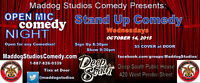 Maddog Studios Open Mic Stand Up Comedy Wednesday in Deep South