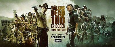 "The Walking Dead Season 8 TV Series 100 Episodes Bunner Poster 47""×20""/120×50cm"