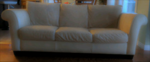 3 Piece Italsofa Genuine Leather, Sofa, Loveseat and Ottoman