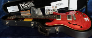 Mint PRS Hollowbody II Blood Orange with Piezo Bridge and CoA