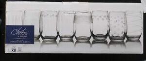 [2 Sets] Mikasa Stemless Wine glasses unopened, 8 set