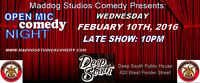LATE SHOW STAND UP COMEDY WEDNESDAY OPEN MIC DEEP SOUTH BBQ