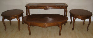 Queen Ann Coffee table, sofa table and two end tables