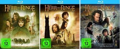 Der Herr der Ringe Teil 1+2+3 Blu-ray Set NEU OVP Alle 3 Teile ()