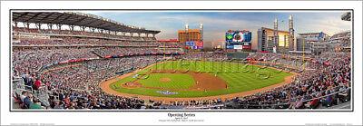 Atlanta Braves Suntrust Park Opening 2017 Panoramic Poster Print By Rob Arra