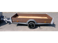 Large 2 quad/2 motorbikes trailer. 10x4,5 ft strong galvanised frame. Good condition