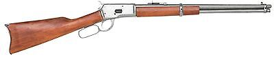 Old West Props (Old West M1892 Replica silver Finish Lever Rifle Denix movie prop gun john)