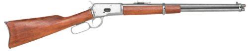 Old West M1892 Replica silver Finish Lever Rifle Denix movie prop gun john wayne