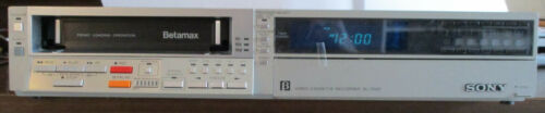 Go Retro? VCR, Betamax Video Player  SONY SL-2500, works, Full Feature, 12 tapes