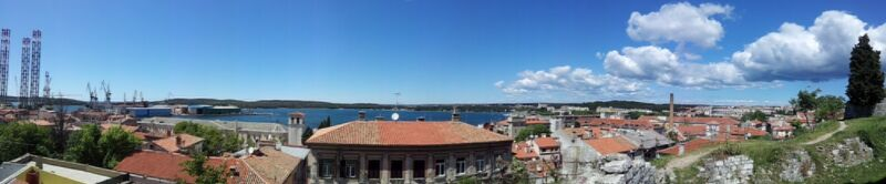 View from the top of Fort Bourguignon