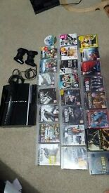 ps3 console with 24 games