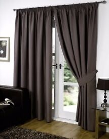 Brown black out curtains