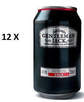 12 Dosen a Jack Daniels Gentleman Jack Cola a 0,33L 10% Vol. inc. EINWEG Pfand