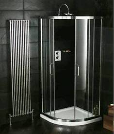 800x800 quadrant shower enclosure and tray