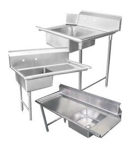 Dish Tabling Stainless Steel Clean & Dirty Side Shelving