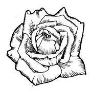 Rose Rubber Stamp