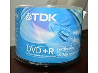 TDK DVD + R 34 Discs Cakebox