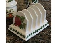 Portmeirion Pomona design toast rack