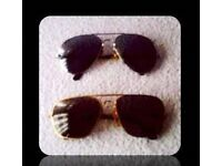 RETRO SUNGLASSES - 2 PAIRS - FOR SALE