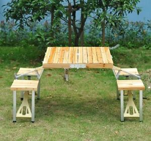 Picnic Table / Wooden Portable Camping Table / Foldable Picnic