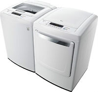 LG Hi-Efficiency, Large Capacity Top Load Washer and Dryer