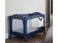 Brand New Baby Travel Cot Izziwotnot Blue Bird - Never Opened £30 ono