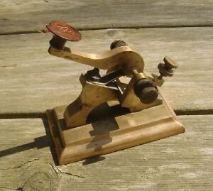 Solid brass fire call box signal