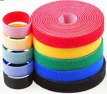 Klett, Microklett, Klettband, Klettverschluss, beidseitig, 20 mm, 6 Farben