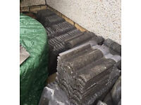 Used Marley Double Roman Grey roof tiles