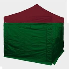 3m x 3m Compact Trader Steel Gazebo with walls and canopy