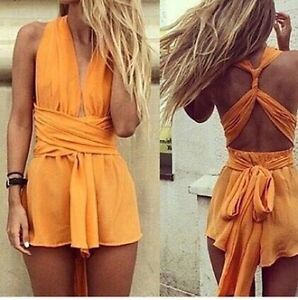 Tangerine Dream Multiway Playsuit by Sisters The Label