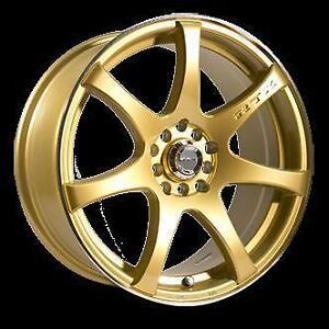 17 inch RTX Ink Gold Wheels -- MultiSpoke -- 5x100 // 5x114.3