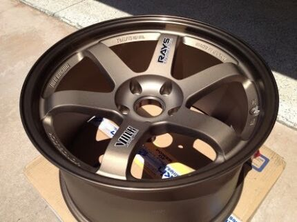 Wanted Rays TE37 bronze 17x9.5+12 pair Golden Grove Tea Tree Gully Area Preview