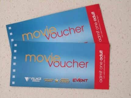 Unrestricted Village Cinemas or Hoyts Cinema Vouchers. Box Hill Whitehorse Area Preview