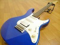 Yamaha Pacifica electric guitar in metallic dark blue